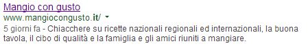 meta description per mangiocongusto.it