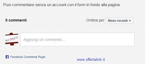 box commenti facebook