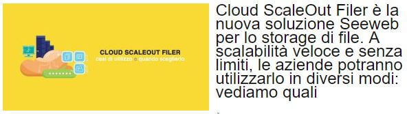 seeweb cloud scaleout filer