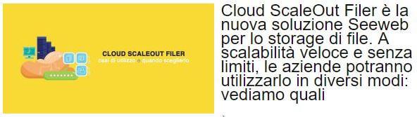 seeweb cloud scaleout filer