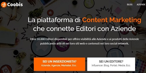 coobis piattaforma di content marketing