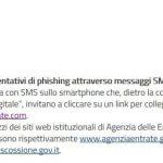 Phishing: anche Agenzia delle Entrate lo diffonde