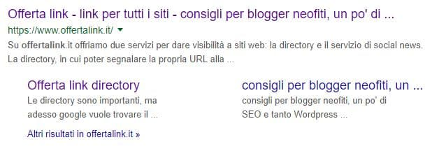 search snippet offertalink